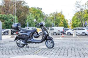 Black Vespa 125cc engine